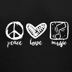 Peace Love Music - Women's V-Neck T-Shirt