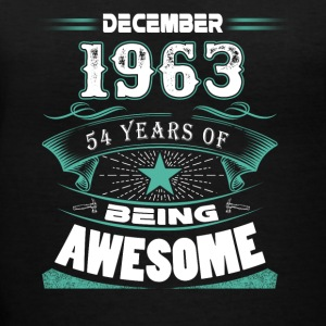 December 1963 - 54 years of being awesome - Women's V-Neck T-Shirt