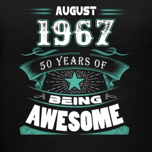August 1967 - 50 years of being awesome - Women's V-Neck T-Shirt