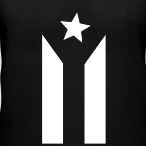 Puerto Rican Black and White Flag - Women's V-Neck T-Shirt