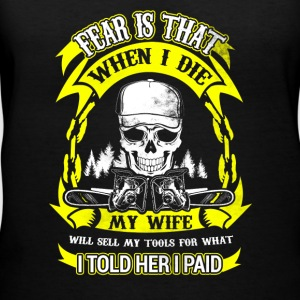 When I die Logger T-Shirts - Women's V-Neck T-Shirt