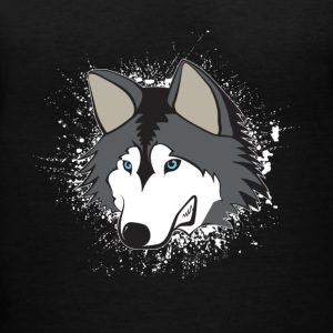 Siberian Husky Shirt - Women's V-Neck T-Shirt