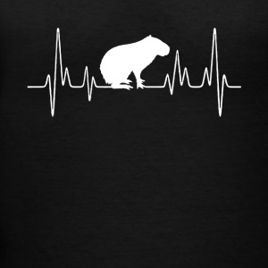 Capybara Heartbeat Shirt - Women's V-Neck T-Shirt