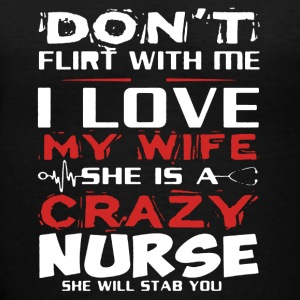 I Love My Wife Nurse Shirt - Women's V-Neck T-Shirt