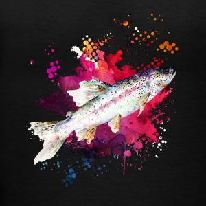 Salmon Watercolor Shirts - Women's V-Neck T-Shirt
