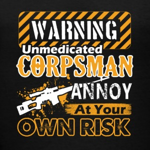 Warning Corpsman Shirt - Women's V-Neck T-Shirt