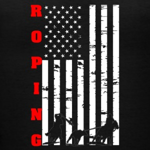 Roping Flag Tee Shirt - Women's V-Neck T-Shirt
