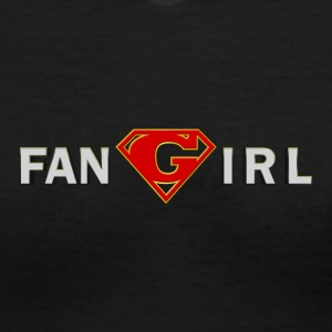 Supergirl - Fangirl - Women's V-Neck T-Shirt