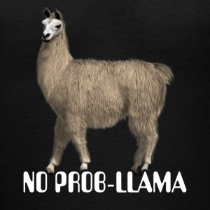 No Prob Llama Funny Cute Llama Quote Shirt - Women's V-Neck T-Shirt