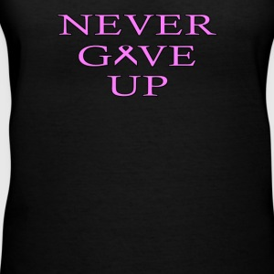 Never Give UP BC - Women's V-Neck T-Shirt