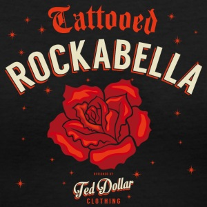 Tattooed Rockabella - Women's V-Neck T-Shirt