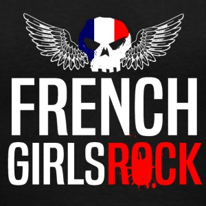 FRENCH GIRLS ROCK - Women's V-Neck T-Shirt