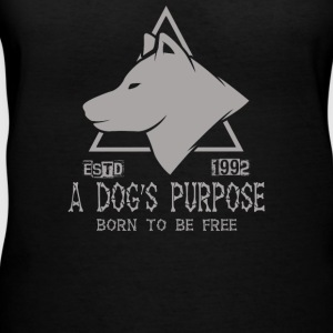 A Dog s Purpose Estd 1992 Born To Be Free - Women's V-Neck T-Shirt