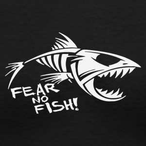 Fear No fish Bone - Women's V-Neck T-Shirt