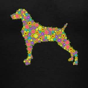 Weimaraner Flower Shirts - Women's V-Neck T-Shirt