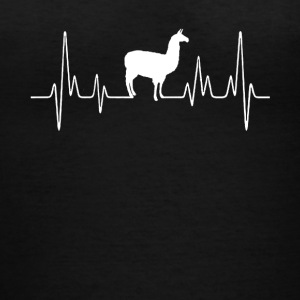 Llama Heartbeat Shirt - Women's V-Neck T-Shirt