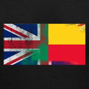 British Beninese Half Benin Half UK Flag - Women's V-Neck T-Shirt