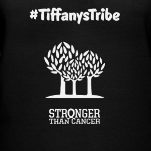 Tiffany is starting a new cancer trail - Women's V-Neck T-Shirt