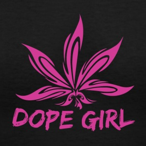 Dope Girl - Women's V-Neck T-Shirt