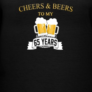 Cheers And Beers 65th Birthday - Women's V-Neck T-Shirt