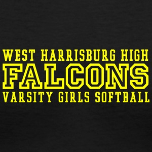 WEST HARRISBURG HIGH FALCONS VARSITY GIRLS SOFTBAL - Women's V-Neck T-Shirt