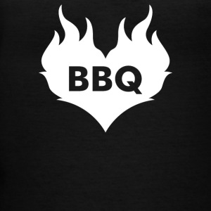 Bbq Heart Shaped Flaming Heart - Women's V-Neck T-Shirt