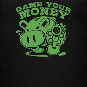 Gimmie Your Money Pig Coin Bank - Women's V-Neck T-Shirt
