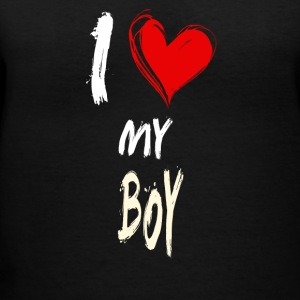 I love my BOY - Women's V-Neck T-Shirt