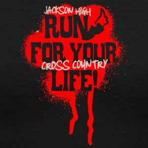 Jackson High Run For Your Life Cross Country - Women's V-Neck T-Shirt