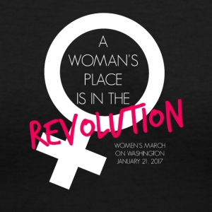 A Woman's Place is the Revolution March Shirt - Women's V-Neck T-Shirt