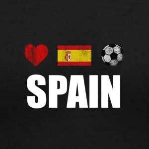 Spain Football Spaniard Soccer T-shirt - Women's V-Neck T-Shirt