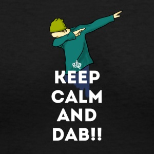 keep calm dab dabbing football touchdown LOL - Women's V-Neck T-Shirt