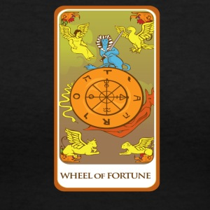 Wheel Of Fortune Tarot Card Tee Shirt - Women's V-Neck T-Shirt