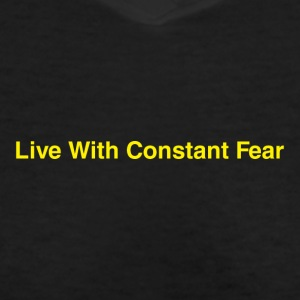Life-With-Constant-Fear - Women's V-Neck T-Shirt