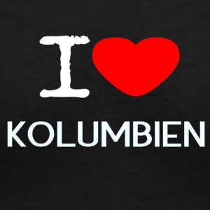 I LOVE KOLUMBIEN - Women's V-Neck T-Shirt