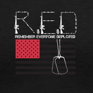 Red ( Remembering Everyone Deployed) - Women's V-Neck T-Shirt