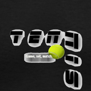 Tennis GSM t shirt - Women's V-Neck T-Shirt