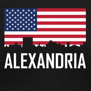 Alexandria Louisiana Skyline American Flag - Women's V-Neck T-Shirt