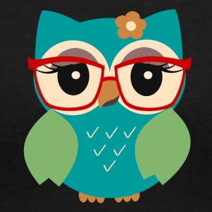 owl nerd - Women's V-Neck T-Shirt