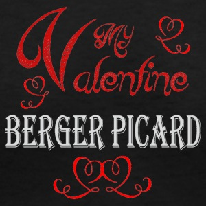 A romantic Valentine with my Berger Picard - Women's V-Neck T-Shirt