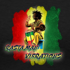 Rasta Vibez - Women's V-Neck T-Shirt