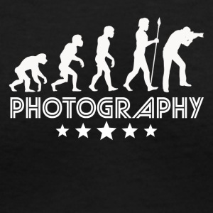 Retro Photography Evolution - Women's V-Neck T-Shirt