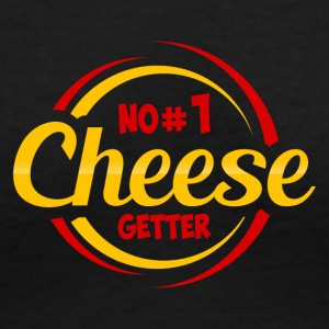 NO 1 CHEESE GETTER - Women's V-Neck T-Shirt
