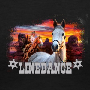KL linedance17b - Women's V-Neck T-Shirt