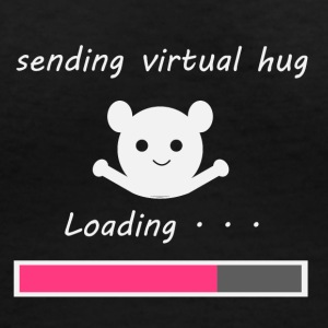 Sending virtual hug Loading... - Women's V-Neck T-Shirt