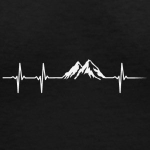 Make a heartbeat design for Mountain - Women's V-Neck T-Shirt