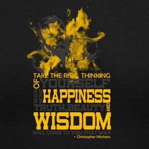 Happiness and Wisdom - Women's V-Neck T-Shirt