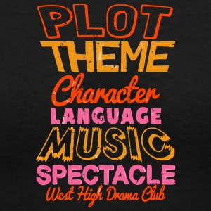 PLOT THEME CHARACTER LANGUAGE - Women's V-Neck T-Shirt