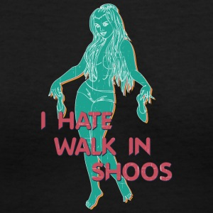 i_HATE_walk_in_shoos_vintage - Women's V-Neck T-Shirt