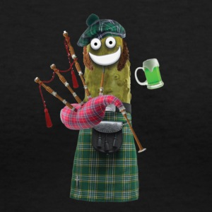 Bagpipe Pickle - Women's V-Neck T-Shirt